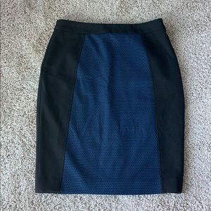 Nordstrom Blue and Black Pencil Skirt
